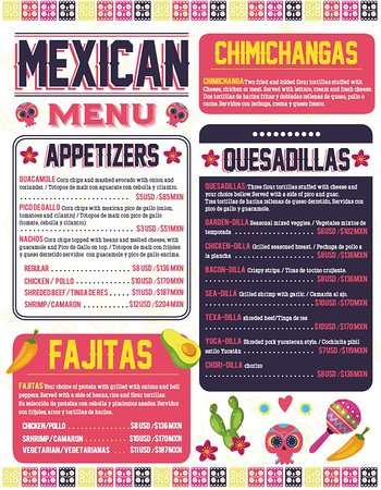 Discover Mexico Snack Bar Menu