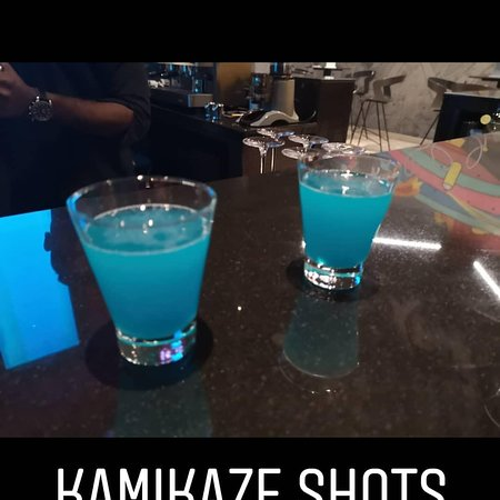 Fun time requesting suprise shots from our bartender Kumar😊😊