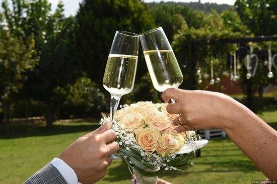 Moimenta da Beira, Portugal: brinde aos noivos