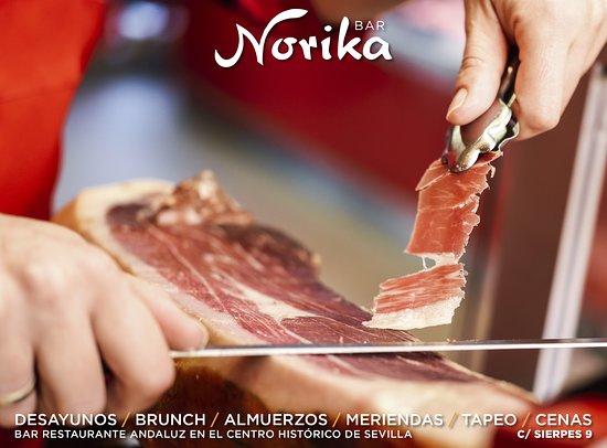 En Norika Bar te espera un jamón de primera y recién cortado, para que tus raciones tengan el auténtico sabor que buscas. Visítanos y disfrútalo! 😋