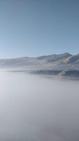 Gjirokaster County, Albánia: Over the clouds.