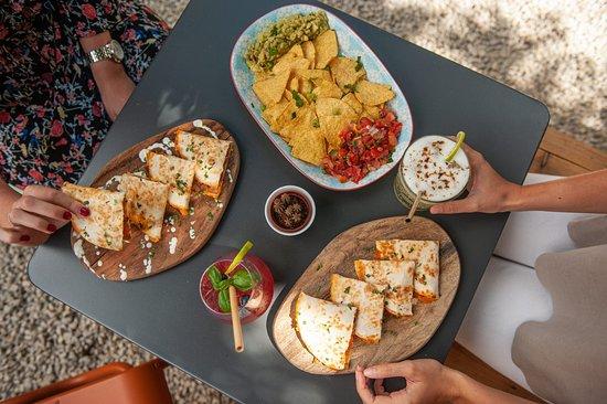 Quesadillas and nachos