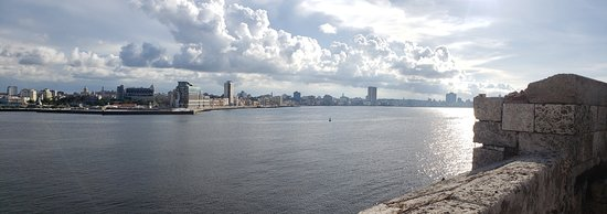 Picture of Havana Harbor and skyline from El Morro.