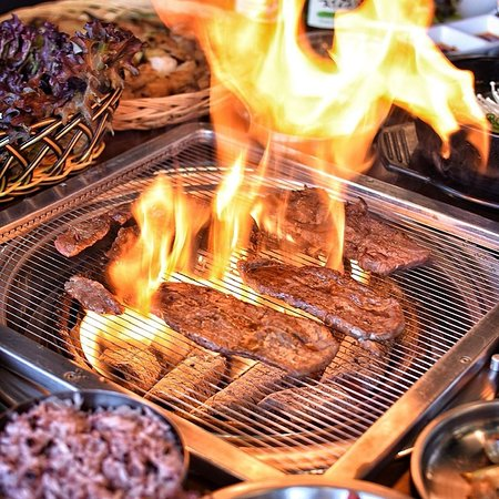 Things can get hot at Wagyu Nara with our KBBQ sets - Wagyu, Pork and Mixed Variety Sets available for your Korean BBQ experience with family and friends..BBQ sets come with complimentary side dishes from our huge range of Banchan...
