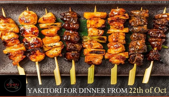 Yakitori will be available from 22th of Oct