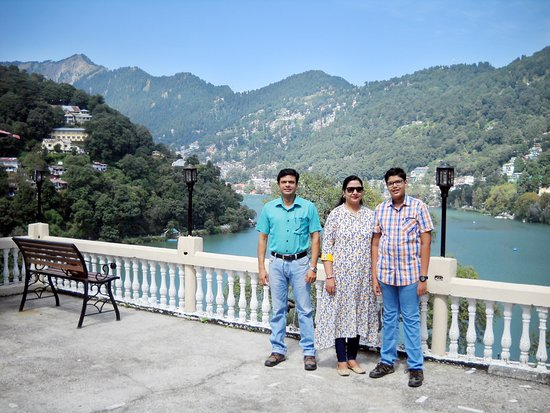 Picture takes from big balcony/roof from our booked room C9 (Hotel Himalaya) which provides a huge beautiful view of Naini Lake..... morning and night view were truly पैसा वसूल !