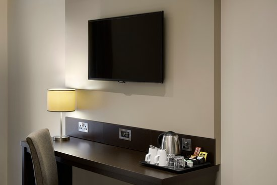 Premier Inn bedroom with desk