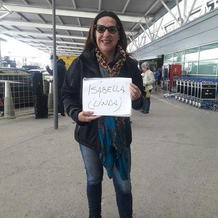 Esperando a mi Pasajera en ezeiza. Tranfer todos los aeropuertos de Buenos Aires