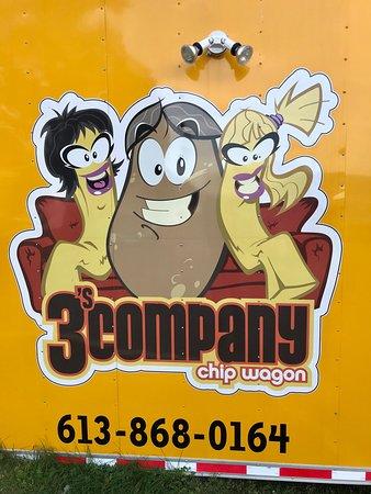 Orleans, Canada: 3's Company Chip Wagon Logo