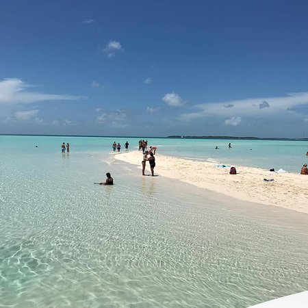 Sand Bar at off Norman's Cay. time to relax and Swim/ Snorkel at this stop.