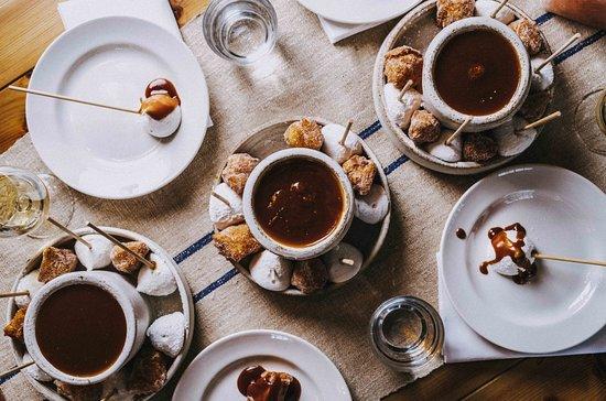 Salted caramel fondue