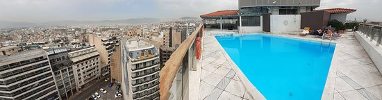 Pool area and views from room 1006