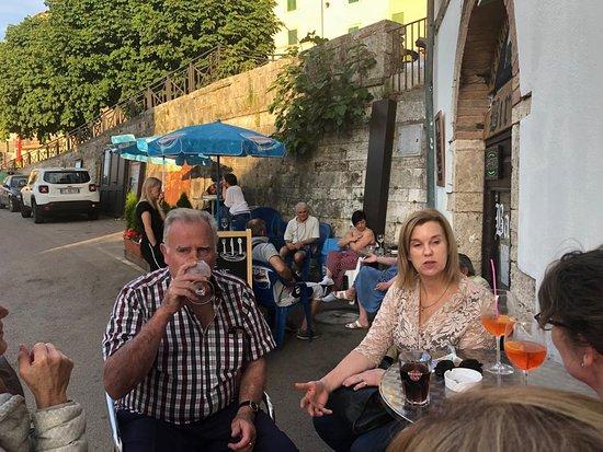 Sundowners outside Le Notte