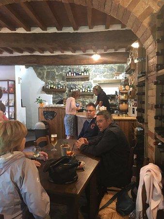 A cosy corner in Renzo's bar