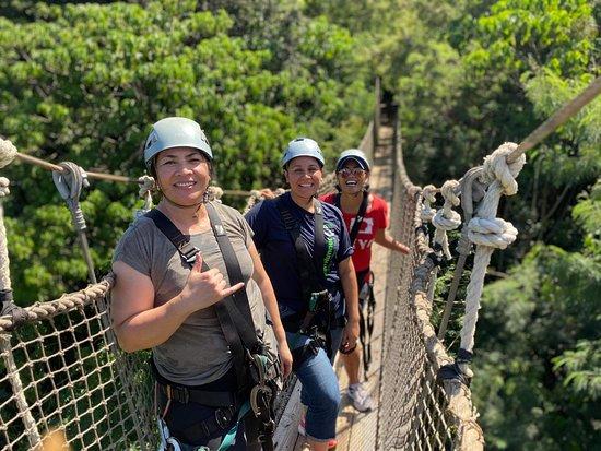 Zipline Tour On Oahu's North Shore: Walking the bridge.