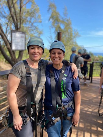 Zipline Tour On Oahu's North Shore: Getting ready to jump!