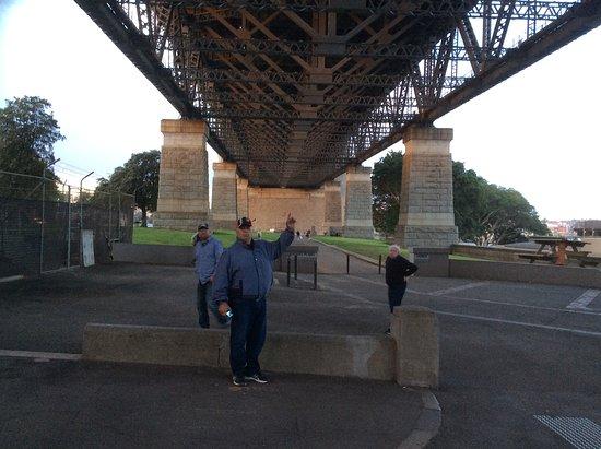 The tour took us under part of the harbour bridge.