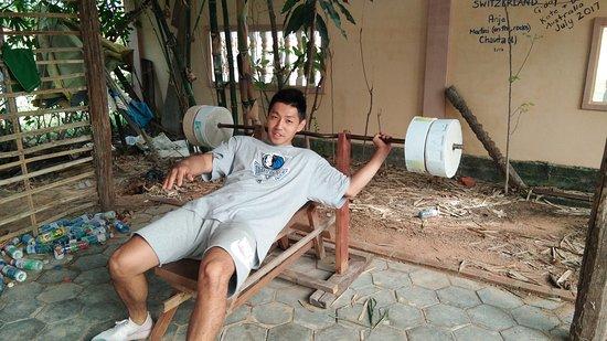 Homemade gym for fitness