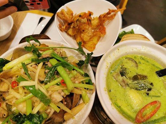 泰式青咖喱軟殼蟹鍋,泰式明爐大蜆鍋