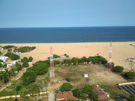 The view, to the East, from the top of the Pulicat lighthouse.