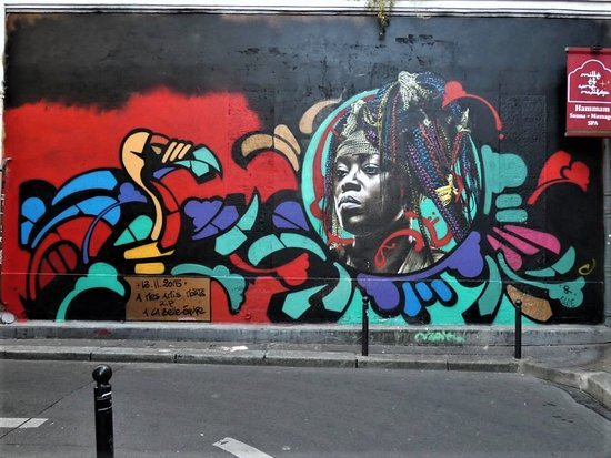 "Fresque ""La belle africaine"""