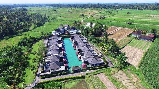 Aerial shot of Lagoon Pool Villa