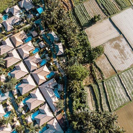 Aerial shot of Deluxe Pool Villa