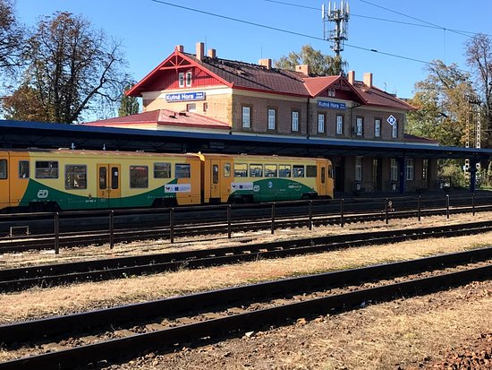 Kutna Hora Day Tour Including Sedlec Ossuary from Prague: The Kutna Hora train station