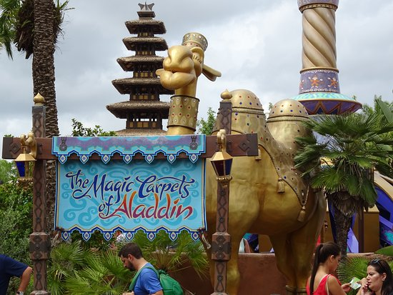 The main sign for the ride