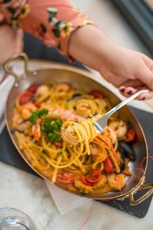 Linguine de Gragnano aux fruits de mer