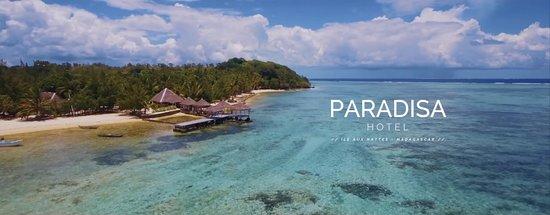 Paradisa Hôtel - vue du ciel - mer, plage et bungalows