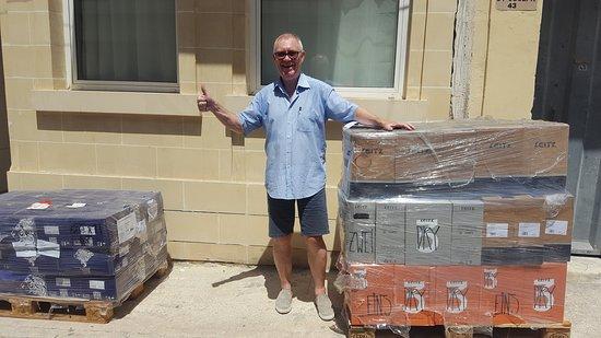 Sliema, Malta: Second wine pallet reached Malta on August 8th, 2019 - Weingut Leitz, Rüdesheim (Rheingau)