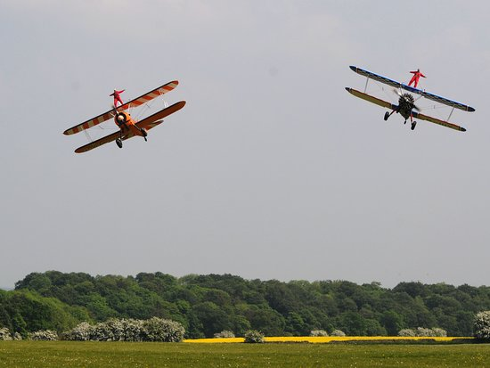 Formation Wingwalking Experiences This unique experience offers two wingwalkers the opportunity to be part of their own private formation wingwalk display. Flown by two of our world renowned wingwalking display pilots, you will both take to the skies on the top wing of our Boeing Stearman Biplanes and experience an exciting series of flight manoeuvres, zooming past each other and flying side by side. Your flights will include flypasts, zoom climbs and steep dives with your own smoke trails.