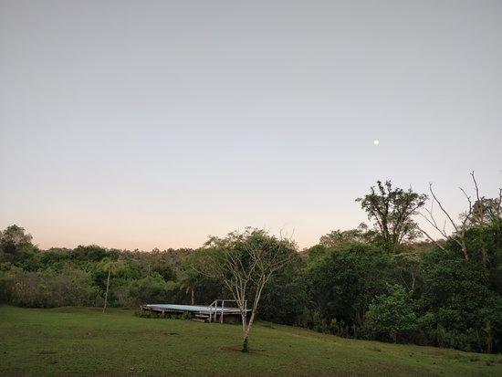 La pileta y la luna!