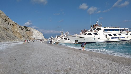 A much bigger boat reached Lalaria Beach just after us