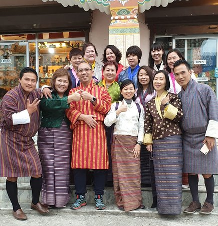 Fun to try on the colourful Traditional costume and walk the streets.