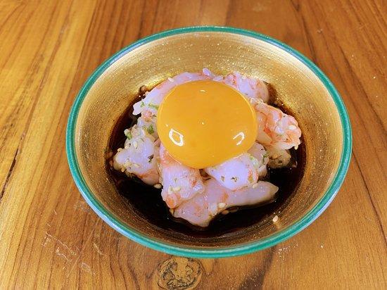 甘エビユッケ Hokkaido Sweet Shrimp Yukhoe
