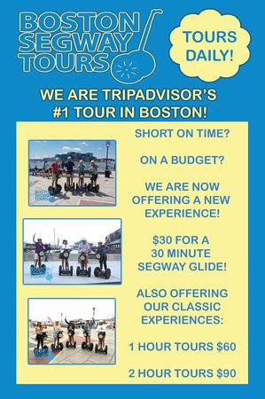 Visiting#Bostonbut don't have time? On a budget? Still looking for the thrill of riding a#Segway? Introducing 30/FOR/$30! 30 minutes for $30! Not Bad for the #1#TOURon#TripAdvisor😎👍Book Now!www.bostonsegwaytours.net/book-now