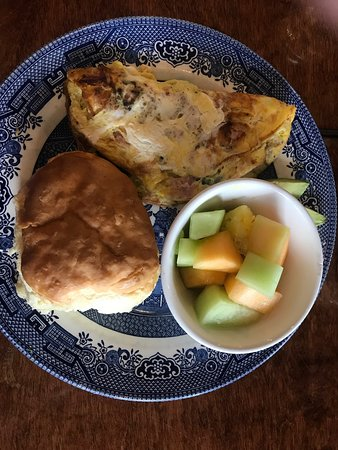 My omelette and sides