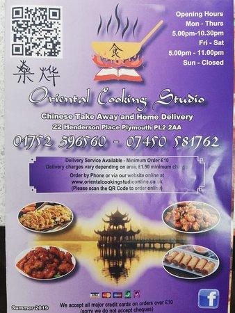 Oriental cooking studio chinese takeaway