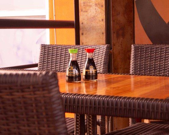 La terraza en Izakaya Sushi Bar Tegucigalpa
