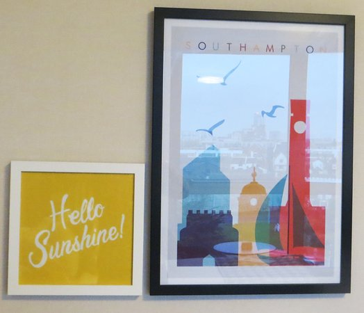 Room art, sadly there was no sunshine outside during my stay!