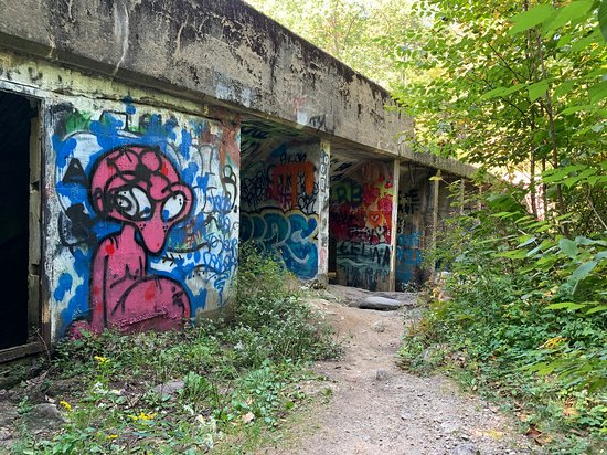 Cool graffiti at the dam.