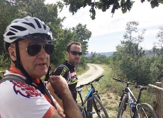 Pete and Danjiel on the Parenzana Trail.