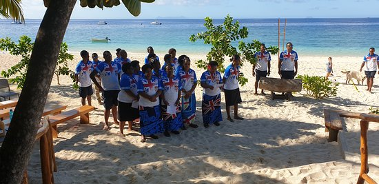 """We were most fortunate to be on the island on 10th October 2019 - """"Fiji Day"""" (Fiji independence from Britain 1949). Celebrations commenced at 3pm and we were made very welcome to participate in the fun."""