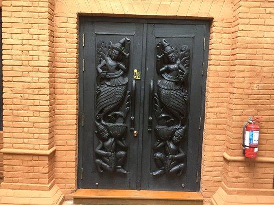 Beautiful doors of the suite.