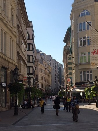 Vaci Street and its Surrounding Neighborhood in District V in Budapest