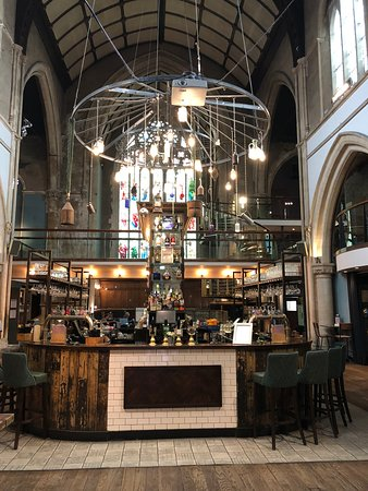 The Unitarian Church closed, became a lace museum and is now a bar!