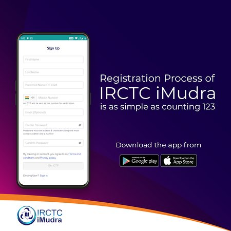 India: Want to enter a #cashless world of #safe & #securetransactions? #Register for #IRCTCiMudra wallet in 4 easy steps & enjoy exclusive benefits! To #download the #app, visit www.irctcimudra.com