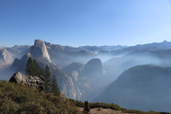 3-Day Yosemite Camping Adventure from San Francisco: Smoky / foggy weather making a rare view